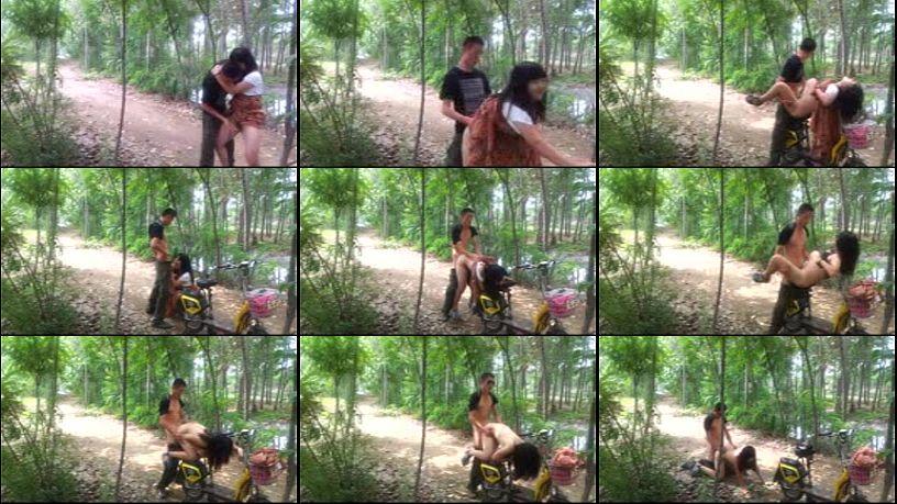 หลุดคู่หนุ่มสาว แอบมาเล่นชู้กันในป่าริมทาง xxxปั่นจักรยานมาเย็ดกัน อย่างเด็ด จับกระเด้าบนเบาะจักรยานเลย