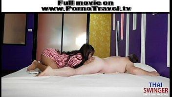 หนังโป๊นวด XXX สาวไทยนวดแถมนาบ ขย่มฝรั่งจนควยแข็ง แหกตูดเลียให้ แล้วใช้หีนวดควย